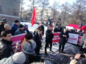 Максим Шевченко на митинге 4 марта 2018 года