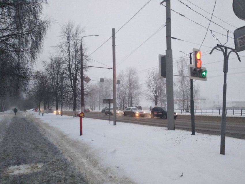 снег Владимир дорога