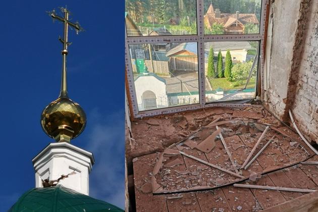 В Судогодском районе молния повредила храм